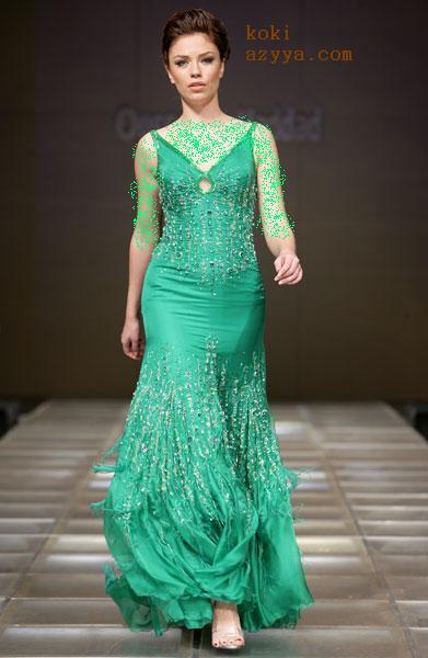 7002bf525 فساتين خليجية 2019 - اجمل الفساتين الخليجية 2019 - حنين الحب