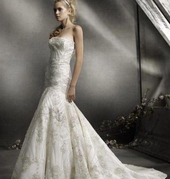 78557fe7156d8 فساتين زفاف لاجمل عروس 2019