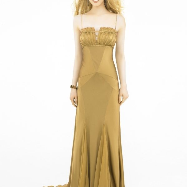 5713c9afb034d فساتين سهرة باللون الذهبى 2019 ، أناقة اللون الذهبى فى الفساتين 2019 ...